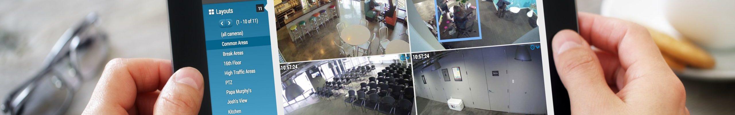 Camera Views on Tablet